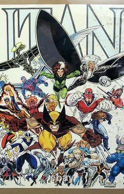 Original 1989 Marvel Press XMen MUTANTS Poster Art by Arthur Adams 22x34 #24590