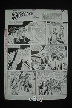 Original Art ACTION COMICS #610, CURT SWAN pencils & signed, John BEATTY inks