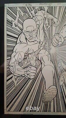 Original Art Flash # 200 Splash Page 16 & 17 Scott Kolins Professionally Framed