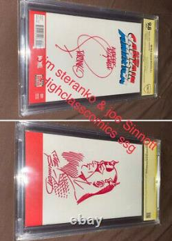 Original Art Hand Sketch Joe Sinnott & Jim Steranko Cbcs 9.8 Ss Rare Graded Art