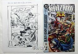 Original Comic Art Cover Shazam 45 Prelim by Jerry Ordway Signed