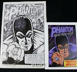 Original Comic Art Cover The Phantom by Lou Manna and Jimmy Janes Signed