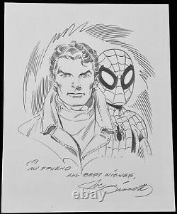 Original Comic Art- Spider-man / Peter Parker Sketch And Signed By Joe Sinnott