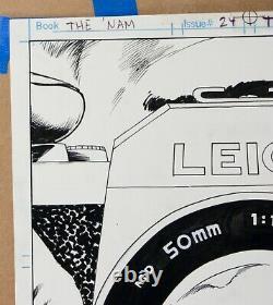 Original Comic Art The Nam Issue 24 Page 20 Signed Wayne Vansant Pencils Marvel