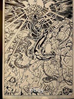 Original Marvel Comic Art Spiderman/deadpool Issue 11 Pg 10 Scott Koblish