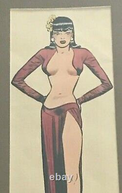 Original Milton Caniff Comic Strip Art Signed 1945 Miss Lace