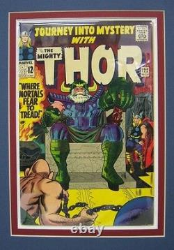 Original Production Art Cover THOR #122, JACK KIRBY, matted withcomic book, ODIN