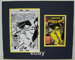 Original Production Art STEVE DITKO Amazing Spider-man #30 matted withcover print