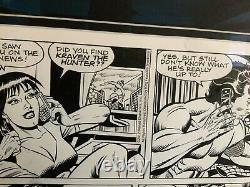 Original Spider-Man comic strip art signed Stan Lee, Joe Sinnott, Alex Saviuk