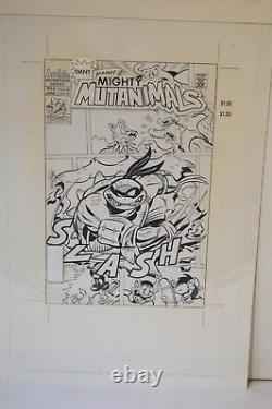 Original TMNT Mighty Mutanimals #9 Production Cover Art SLASH withArchie Comic