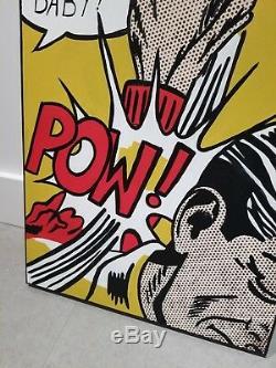 Original Vintage Comic book painting alec monopoly retna mr brainwash banksy