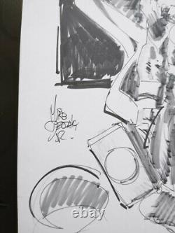Original art by Mike Deodato Thor Sketch