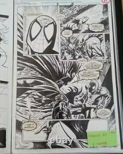 Original comic art. Spidey vs. Morbius. Art by R. Wagner
