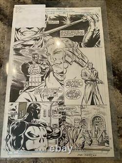 Original comic art splash page MARVEL PUNISHER WARZONE ISSUE 38 PAGE 2