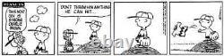 Peanuts Original Comic Metal Printing Plate Topless Charlie Brown! C Schulz Art
