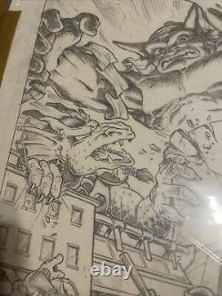 Peter Laird Teenage Mutant Ninja Turtles Adventures #30 Cover Original Art 1991