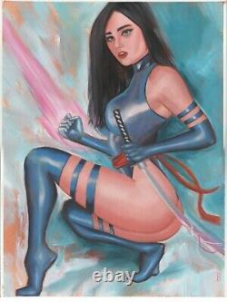 Psylocke X-men (11x17) Original 1/1 unique Comic Art by David Baldo
