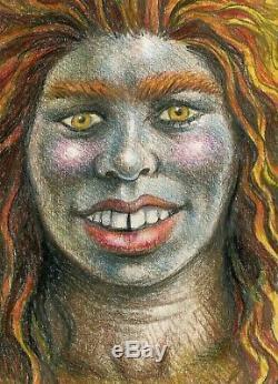 R Crumb Original Art (1987) Sassy the Sasquatch, Whiteman Meets Bigfoot, Exc