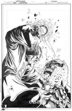 Red Lanterns #17 DC 2013 (Original Art) Cover Miguel Sepulveda Green Lantern