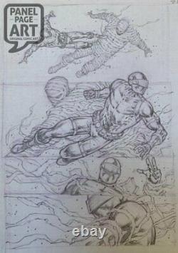 Rob Liefeld Snake Eyes Deadgame #1 page 22 original art pencils prelim G. I. Joe
