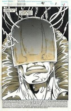 Ron LIM Silver Surfer #91 Original Comic Art Page 1 Full Splash Marvel Comics