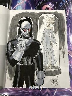 Ryan Odagawa Original Art Mr Freeze And Nora Batman Villain 8x11 Dc Comics