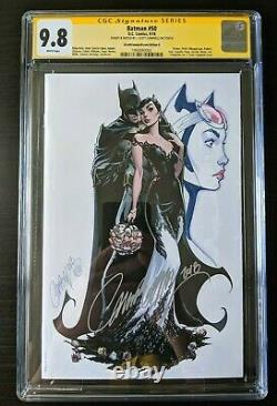 SDCC Batman 50 CGC 9.8 SS CATWOMAN Original Sketch Art J SCOTT CAMPBELL G Selina