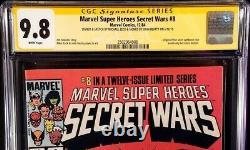 SECRET WARS #8 CGC SS 9.8 Mike Zeck Beatty Original Art Sketch SPIDERMAN VENOM