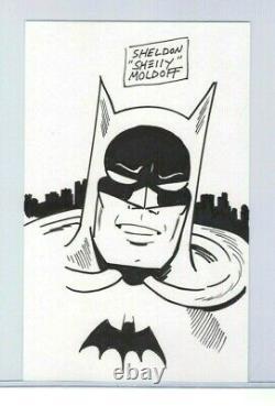 SHELDON'SHELLY' MOLDOFF ORIGINAL BATMAN ART SIGNED & SKETCHED with COA DC COMICS