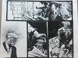 SPAWN Original Comic Art 22x14 JASON SHAWN ALEXANDER Donald Trump Todd McFarlane