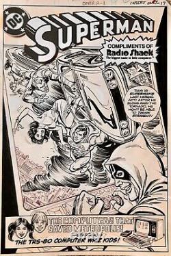 SUPERMAN #3 Original Comic Art Cover Ross Andru Dick Giordano -Radio Shack