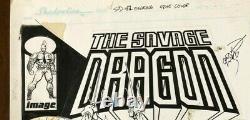 Savage Dragon (ongoing) #2 withTMNT Erik Larsen ORIGINAL COVER ART! Signed Artwork
