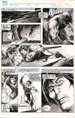 Savage Sword of Conan #210 Marvel 1993 (Original Art) Pg 24 John Buscema