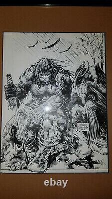 Savage Sword of Conan #215 Original Comic Art-mounted and framed