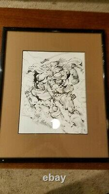 Savage Sword of Conan #225 Original Comic Art-mounted and framed