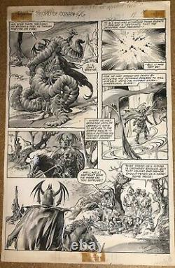 Savage Sword of Conan #96 Pg17 1984 John Buscema Rare Original Comic Art