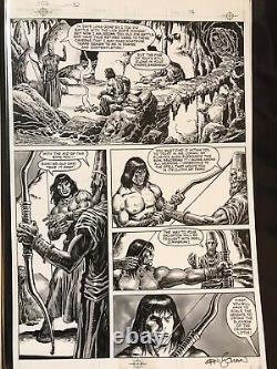 Savage Sword of Conan original art, #102 pg. 34, signed