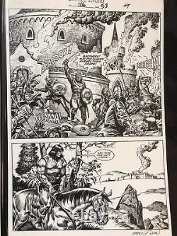 Savage Sword of Conan original art #116 pg. 53, signed