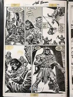 Savage Sword of Conan original art, signed John Buscema