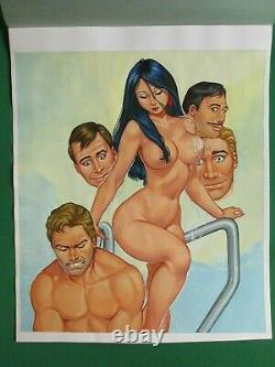 Sexy Gorgeous Beautiful Babe Breasts Curvy Original Mexican Comic Cover Art