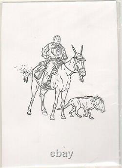 Shaolin Cowboy Original Art Sketch Geof Darrow 8'' X 10
