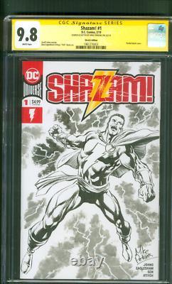 Shazam 1 CGC SS 9.8 Mike Perkins Original art sketch Variant Justice Society TV