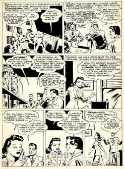 Shuster Studio Golden Age Superman Pg 12 Large Original Art (1944)
