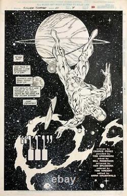 Silver Surfer #111 Original Comic Art Title Splash Page 1995 Tom Grindberg