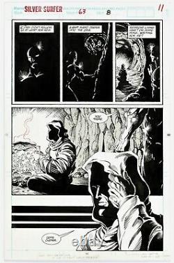 Silver Surfer #63 Page 11 Original Art Silver Surfer & Captain Marvel By Ron Lim