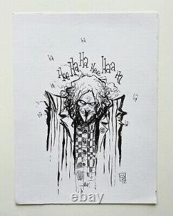 Skottie Young Joker Original Art Sketch Commission 9x12