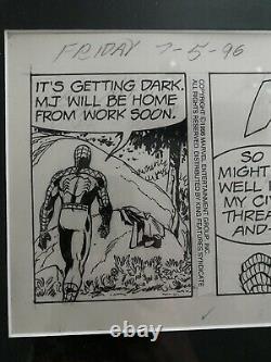 Spiderman Original Comic Strip Art-Inked by Fred Kida