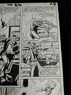 Spiderman Original Marvel Art Interior Page Spectacular Electro Jjj Lots Of Pics