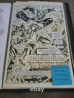 Spiderman/Punisher Family Plot 2 Title Page. Original Comic Art