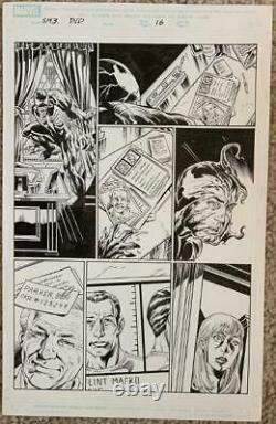 Spiderman The Black (dvd Comic) Pg 16 Original Mark Bagley Art Page! Venom